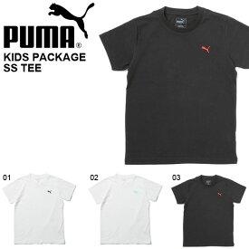 半袖 Tシャツ プーマ PUMA パッケージ SS TEE シャツ キッズ ジュニア 子供 男の子 女の子 コットン 無地 ワンポイント 子供服 839134 20%off