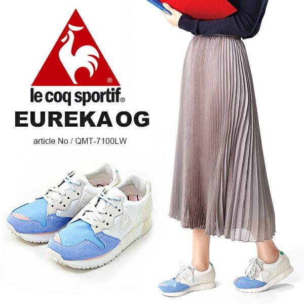 送料無料 復刻 スニーカー ルコック スポルティフ le coq sportif レディース エウレカ EUREKA OG 30周年記念モデル シューズ 靴 QMT7100LW 得割30