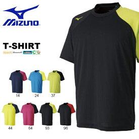 半袖 Tシャツ ミズノ MIZUNO メンズ レディース テニス ソフトテニス バドミントン プラクティスシャツ プラシャツ トレーニング ウェア 部活 クラブ 練習 合宿