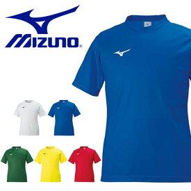 半袖 Tシャツ ミズノ MIZUNO フィールドシャツ メンズ サッカー フットボール フットサル ワンポイント プラクティスシャツ プラシャツ トレーニング ウェア スポーツウェア 部活 クラブ 練習