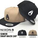 キャップ NIXON ニクソン 帽子 SIMON SNAP BACK CAP メンズ レディース ぼうし BBキャップ スナップバック アジャスタ…