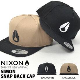 キャップ NIXON ニクソン 帽子 SIMON SNAP BACK CAP メンズ レディース ぼうし BBキャップ スナップバック アジャスタブル バイカラー ツートーン 2019秋冬新作 13%off