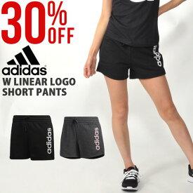 d15b59dcbd171 30%OFF アディダス adidas レディース W リニアロゴ ショートパンツ スウェット ショーツ スポーツウェア ランニング ジョギング