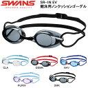 スイムゴーグル SWANS スワンズ 競泳用ノンクッションゴーグル 大人用 メンズ レディース Fina承認モデル 水中メガネ スイミングゴーグル ゴーグル 水泳 スイミング SR-1N EV SR1NEV 得割25