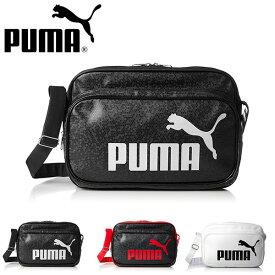 エナメルバッグ プーマ PUMA トレーニング PU ショルダー Mサイズ 23L エナメル ショルダーバッグ スポーツバッグ 斜めがけ バッグ 通学 部活 旅行 スポーツ ジム 075370 得割20