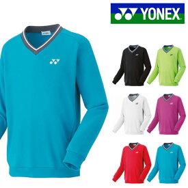 送料無料 スウェット ヨネックス YONEX メンズ ユニ アツデ トレーナー 厚手 スウェットシャツ 長袖 Vネック プラクティスシャツ トレーニングウェア スポーツウェア 32026 得割20