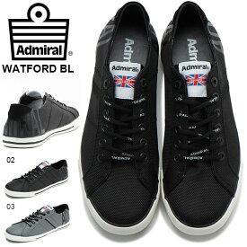 送料無料 スニーカー アドミラル Admiral ワトフォード WATFORD BL メンズ レディース ビッグロゴ ロゴ ローカット シューズ 靴 SJAD1916 2019秋冬新作