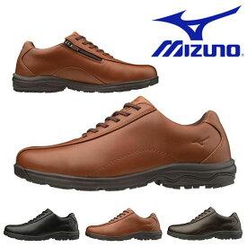 送料無料 ウォーキングシューズ ミズノ MIZUNO メンズ LD40V カジュアル ビジネス シューズ スニーカー 紐 靴 幅広 3E B1GC1917 得割21