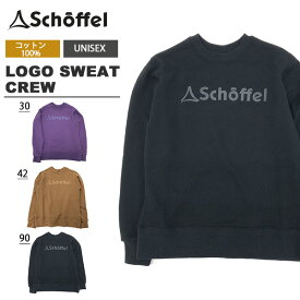 送料無料 長袖 スウェット トレーナー ショッフェル schoffel メンズ レディース LOGO SWEAT CREW スエット クルーネック ロゴ 5045931
