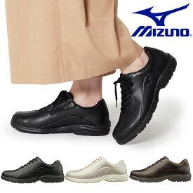 送料無料 ウォーキングシューズ ミズノ レディース MIZUNO LD40V ファスナー付 スニーカー 靴 ビジネス カジュアル ウォーキング シューズ 3E B1GD1917 得割26
