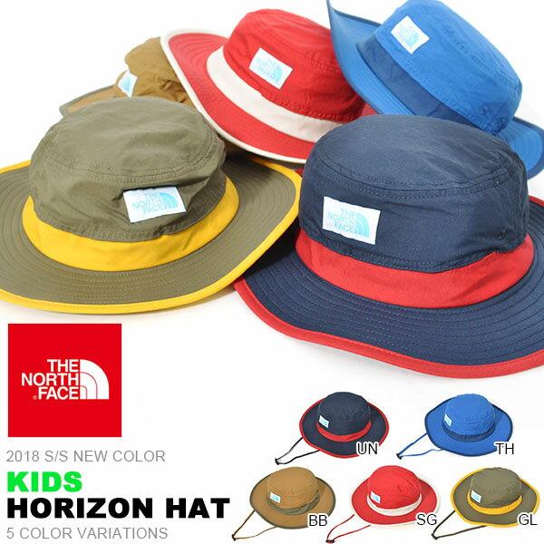 UVカット ハット ザ・ノースフェイス THE NORTH FACE Kids Horizon Hat キッズ ホライゾン ハット 帽子 2018春夏新色 子供 紫外線 日差し防止 nnj41702 15%off