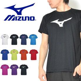 半袖 Tシャツ ミズノ MIZUNO メンズ レディース BS Tシャツ ビッグRBロゴ ランニング ジョギング トレーニング ジム ウェア スポーツウェア 20%off