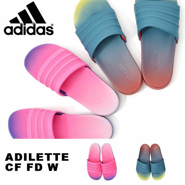 クラウドフォーム搭載 スポーツサンダル アディダス adidas ADILETTE CF FD W レディース シャワーサンダル サンダル スポーツ ジム 2018春新作 CG3437 CG3438