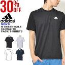 30%OFF 半袖 Tシャツ アディダス adidas M ESSENTIALS CLIMALITE パックTシャツ メンズ ワンポイント スポーツウェア …