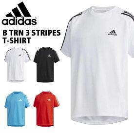 得割30 キッズ 半袖 Tシャツ アディダス adidas B TRN スリーストライプス Tシャツ ジュニア 子供 男の子 スポーツウェア トレーニング ウェア 3本ライン 2019夏新作 FTJ80