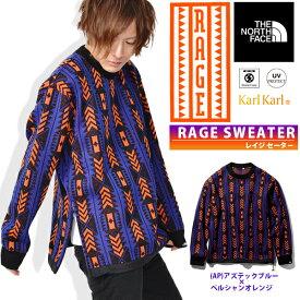 復刻 RAGEシリーズ 送料無料 セーター THE NORTH FACE ザ・ノースフェイス RAGE Sweater レイジセーター メンズ 2019春新作 nt41961 ジャカード編み