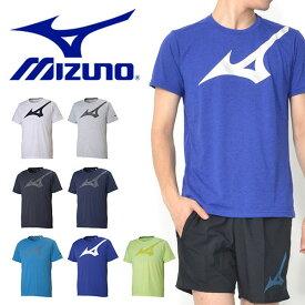 半袖 シャツ ミズノ MIZUNO Tシャツ メンズ ビッグロゴ 吸汗 速乾 ランニング ジョギング トレーニング ウェア 2019春夏新作 20%OFF