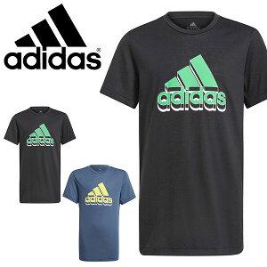 アディダス キッズ 半袖 Tシャツ adidas 子供 ジュニア 男の子 YB AERORDY PRIME TEE ビッグロゴ スポーツウェア 2021春新作 得割20 JKI03