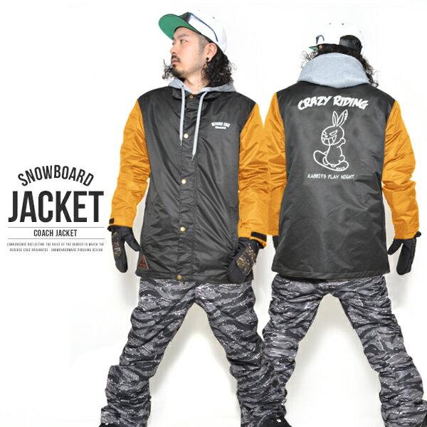 送料無料 スノーボードウェア メンズ Coach Jacket コーチジャケット バックプリント スノーウエア スノーボード ウェア スノボウエア SNOWBOARD JACKET 17-18 2017-2018冬新作 【あす楽対応】