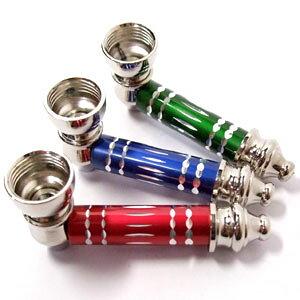 メタルハンドパイプ 喫煙具 葉タバコ(シャグ)、ドライハーブ用