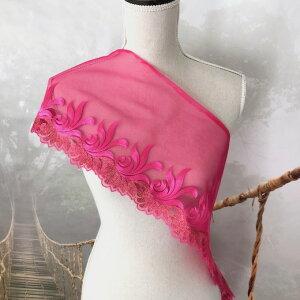 レース 幅広い 花模様 ピンク 刺繍 リボン 手作り 飾り 素材 装飾 手芸 材料 衣装 ハンドメイド レオタード ダンス チュールレース ゴールド