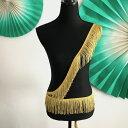 フリンジブレード W10cm 1ヤード タッセル 90cm ゴールド 新体操 レオタード ベリーダンス 衣装レース ブレード 刺繍…