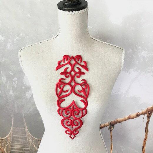 モチーフ ワッペン レッド アイロン用 貼り付け アップリケ ハンドメイド パーツ 衣装 レオタード