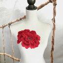 特大! バラ 赤 モチーフ 装飾 薔薇 手作り 装飾 ダンス 衣装 ローズ