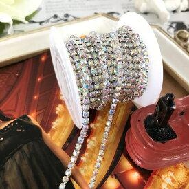 ラインストーン チェーン 衣装 ハンドメイド ダンス 縫い付け レオタード 装飾