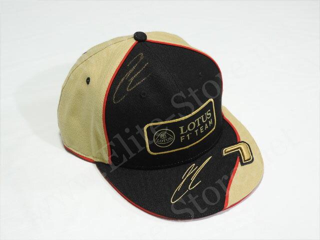【送料無料】 キミ・ライコネン 2013年 ロータス F1 支給品 直筆サイン入り 本人用 Hip- Hop キャップ 帽子 new (海外直輸入品)