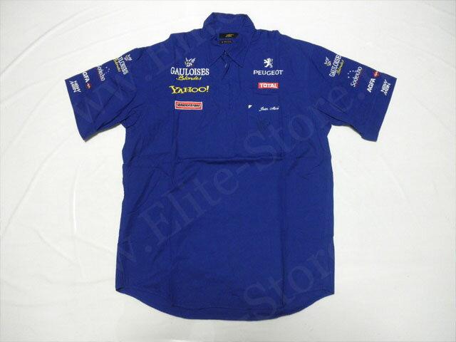 【送料無料】 ジャン・アレジ 2000年 プロスト・プジョー F1 支給品 実使用 本人用 直筆サイン入り ピットシャツ メンズ (海外直輸入 F1 非売品USEDグッズ メモラビリア)