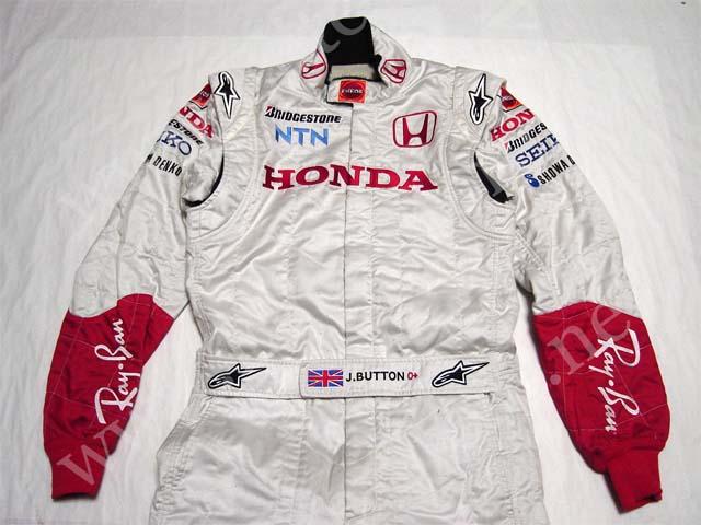 【送料無料】 ジェンソン・バトン 2007年 ホンダ 支給品 アルパインスターズ製 実使用 レーシング スーツ (海外直輸入 F1 非売品USEDグッズ メモラビリア)