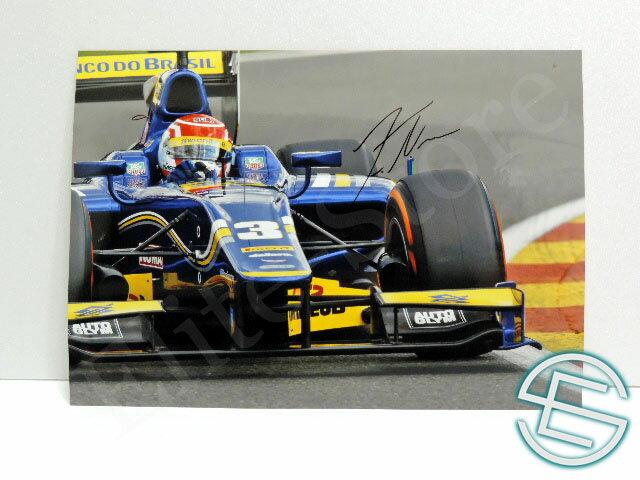 【送料無料】 フェリペ・ナッセ GP2 2014年 カーリン 直筆サイン入り A4サイズ 生写真 (海外直輸入 F1 非売品グッズ)