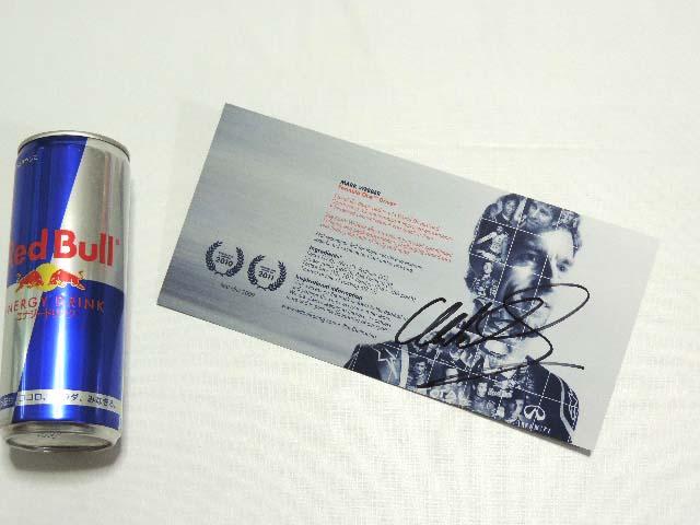 【送料無料】 マーク・ウェバー 2012年 レッドブル・ルノー F1 非売品 直筆サイン入り ドライバーカード (海外直輸入 F1 非売品グッズ)