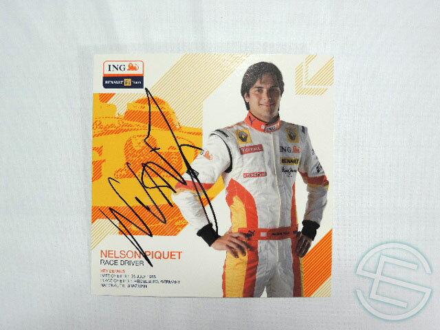 【送料無料】 ネルソン・ピケJr 2009年 ING・ルノー 非売品 直筆サイン入り ドライバーカード (海外直輸入 F1 非売品グッズ)