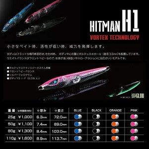 THE HITMAN LURESH1 25gヒットマンちゃんねるシーバス ハマチ ブリライトショアジギング
