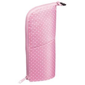 ◆コクヨ ペンケース〈ネオクリッツ〉ピンク(ドット柄)×ピンク F-VBF180-5