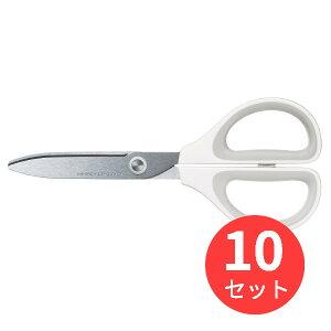 【10個セット】コクヨ ハサミ<サクサ>(スタンダード刃) ハサ-280W【まとめ買い】