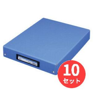 【10冊セット】キングジム(KING JIM) デスクトレ-BF 4008BF A4 青 【まとめ買い】