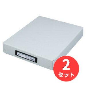 【2冊セット】キングジム(KING JIM) デスクトレ-BF 4008BF A4 グレー 【まとめ買い】