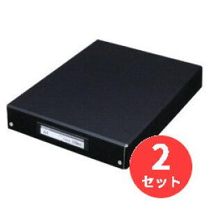 【2冊セット】キングジム(KING JIM) デスクトレ-BF 4008BF A4 黒 【まとめ買い】