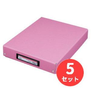 【5冊セット】キングジム(KING JIM) デスクトレ-BF 4008BF A4 ピンク 【まとめ買い】