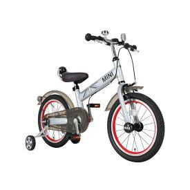 【M&M(エムアンドエム)】MINI KIDS BIKE16(クリスタルシルバー)(カゴなし)子供用自転車