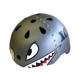 【徳島双輪】X-COOL ヘルメット(総柄タイプ・シャーク) M( 54〜57cm )
