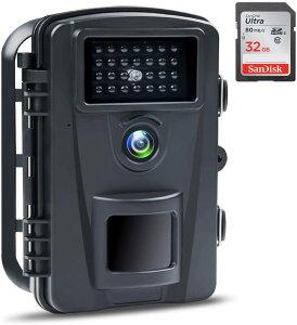 ABASK【カメラ 防犯 防犯カメラ トレイルカメラ 屋外カメラ ペットカメラ 見守りカメラ 小型カメラ Webカメラ ウェブカメラ 電池式 暗視カメラ 防水防塵 野外 1080PフルHD 赤外線ライト搭載 上書