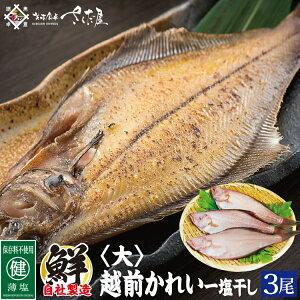 越前産 カレイ干物 3尾セット【冷凍便】