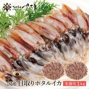 目取り ほたるいか 1kg(500g×2袋) 国産 生食用 【冷凍便】