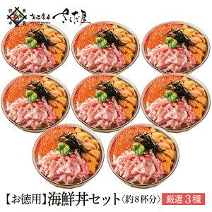 おうち時間応援!ウニ・カニ・いくらのたっぷり海鮮丼セット 約8杯分【冷凍便】