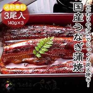国産 うなぎ蒲焼き 3尾セット【冷凍便】