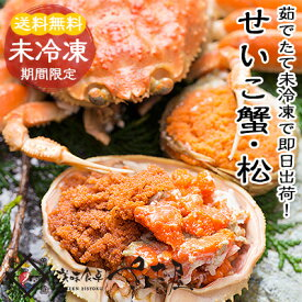 越前せいこがに 松葉せこがに 親がに 石川コウバコがに 通常10,000円コース【冷蔵便】